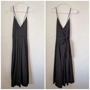 Black long canvas Zara dress
